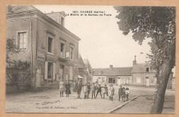 1837. Changé (Sarthe). - La Mairie Et Le Bureau De Poste - Pub PICON  - ANIMEE - France