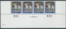 ÖSTERREICH / PM Nr. 8116025 / 4er Streifen Mit Nummer / Major Rudolf Graf Van Der Straten-Ponthoz / Postfrisch - Personalisierte Briefmarken