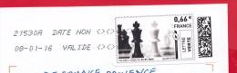France - 2015 - MONTIMBRENLIGNE - 08/01/16 Enveloppe DL Date Non Valide - Cartas