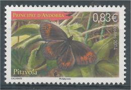 Andorra (French Adm.), Butterfly, Woodland Ringlet (Erebia Medusa), 2014, MNH VF - Andorre Français