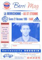 Programme Football 1998 1999 Chateauroux C ASSE Saint Etienne – France - Livres