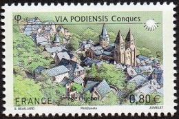 France Architecture N° 4728 ** Site - Les Chemins De Saint Jacques De Compostelle. Eglise Abbatiale Saint-Foye à Conques - Eglises Et Cathédrales