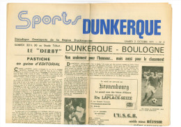 Programme Football 1971 1972 USD Dunkerque C Boulogne – France DERBY - Books