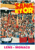 Programme Football 1986 1987 RCL Lens C Monaco – France - Books