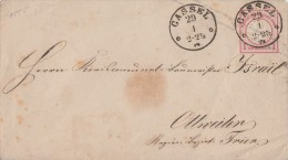 DR GS-Umschlag 1 Groschen Nachv. Stempel Cassel 29.1. Gel Nach Ottweiler - Deutschland