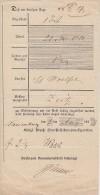 Einlieferungsschein Naumburg 1.8.1849 - Preussen
