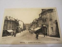 CPA BRIVE AVENUE DE LA GARE 1929 - Brive La Gaillarde