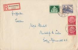 DR R-Brief Mif Minr.2x 519,615,618 Braunschweig 4.8.36 - Deutschland