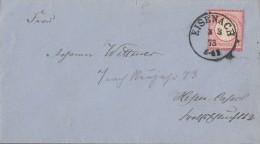 DR Brief EF Minr.19 Nachv. Stempel Eisenach 3.3.73 - Deutschland