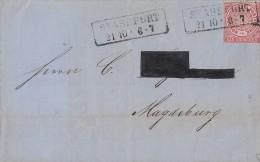 NDP Brief EF Minr.4  K2 Stassfurt 21.10. Gel. Nach Magdeburg - Norddeutscher Postbezirk