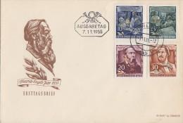 DDR Brief Minr.486,487,488, 489 Berlin 7.11.55 FDC - FDC: Briefe