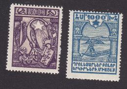 Armenia, Scott #303-304, Mint Hinged, Crane, Peasant, Issued 1922 - Armenia