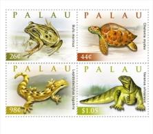 PALAU  999-1002 ; IGPC ; MINT N H STAMPS ( REPTILES - Palau