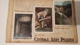 12 PHOTOS ANCIENNES DE LA CENTRALE LEON PERRIER - Génissiat