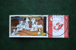 101 Dalmations Dog Chien Duostamps Persoonlijke Postzegel Timbre Personalisé Oblitéré Gestempeld Used Belgie Belgique - Belgique