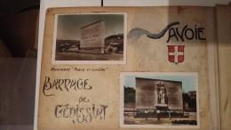 8 PHOTOS ANCIENNES DU BARRAGE DE GENISSIAT ET 3 PHOTOS DE SCULTURE D EGLISE - Génissiat