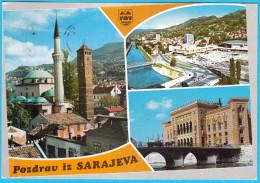 SARAJEVO ( Bosnia And Herzegovina ) * Travelled * Islam Religion Mosque Mosquée Mosques Moschee Mezquita Moschea AK - Islam