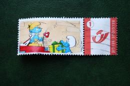 CARTOON SMURFS SMURFEN Duostamps Persoonlijke Postzegel Timbre Personalisé Oblitéré Gestempeld Used Belgie Belgique - Belgique