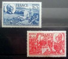 FRANCIA 1944 YT 607/8 MI 620/21** MNH - Francia