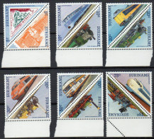 Surinam  Zdr. Mi. 1134 / 1145  Lokomotiven  **/MNH - Trenes