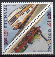 Surinam  Zdr. Mi. 1180 / 1181  Lokomotiven  **/MNH - Trenes