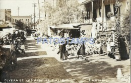 27309 US LOS ANGELES CALIFORNIA STREET OLVERA MARKET POSTAL POSTCARD - Ohne Zuordnung