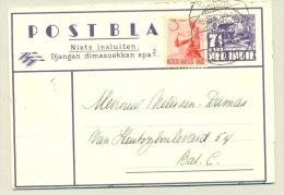 Nederlands Indië - 1949 -  Postblad G5b Met 3cent Bijfrankering Naar Batavia - Netherlands Indies