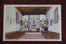 Interior Of Old Church Of ST AUGUSTINE, ISLETA - Etats-Unis
