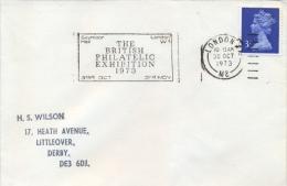 Great Britain 1973 Machine Special Cancel London British Philatelic Exhibition - Philatelic Exhibitions