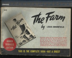 1944 ARMED SERVICES EDITION N° S31 - THE FARM - LOUIS BROMFIELD ( COUNCIL ON BOOKS IN WARTIME ) ( ARMY WWII BOOKS ) - Forces Armées Américaines