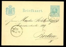 POSTHISTORIE * HANDGESCHREVEN Uit 1880 Van AMSTERDAM Naar BERLIN  (10.360a) - Postal Stationery