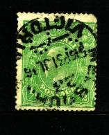 AUSTRALIA - 1915  KGV HEAD  1/2 D  GREEN SINGLE CROWN WMK PERFORATED OS FINE USED  SG O38 - 1913-36 George V: Heads