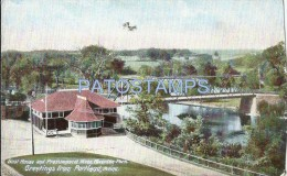 27324 US PORTLAND MAINE BOAT HOUSE AND PRESUMPSCOT RIVER RIVERTON PARK POSTAL POSTCARD - Etats-Unis