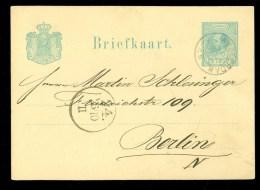POSTHISTORIE * HANDGESCHREVEN Uit 1880 Van AMSTERDAM Naar BERLIN  (10.360e) - Postal Stationery