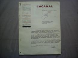 BIARRITZ ETABLISSEMENTS LACANAL CHAUFFAGE CHAUDRONNERIE COUVERTURE 5 AVENUE DE VERDUN COURRIER DU 15 AVRIL 1948 - 1900 – 1949