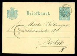 POSTHISTORIE * HANDGESCHREVEN Uit 1880 Van AMSTERDAM Naar BERLIN  (10.360f) - Postal Stationery
