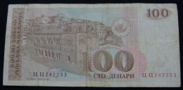 MACEDONIA 100 DENARI VF 1993. - Macedonia