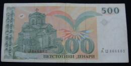 MACEDONIA 500 DENARI VF+ 1993. - Macedonia