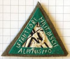 ITALIA Medaglia / Distintivo - Scudetto/Distintivo ISTRUTTORE MILITARE DI SCI E ALPINISMO - Raro - Armée De Terre