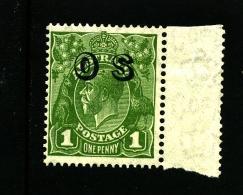 AUSTRALIA - 1931 KGV HEAD 1d GREEN  CofA  WMK  OVERPRINTED OS MINT NH  SG O129 - 1913-36 George V: Heads