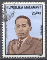 Madagascar YT N°557 Colonel Ratsimandrava Oblitéré ° - Madagascar (1960-...)