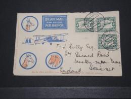 AFRIQUE DU SUD - Env Par Avion De Cap Town Pour L'Angleterre - Janv 1932 - A Voir - P15029 - Poste Aérienne