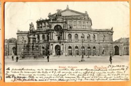 LOL089, Dresden, Königl. Hofoper, Précurseur, 1 Pli, Circulée 1905 - Dresden