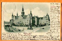 LOL090, Dresden, Kgl. Schloss, Précurseur, Circulée 1899 - Dresden