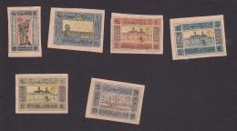 Azerbaijan, Scott #2, 5-9, Mint No Gum, Standard Bearer, Farmer, Baku, Temple, Issued 1919 - Aserbaidschan