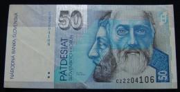 SLOVAKIA 50 KORUN 1993,VF+. - Eslovaquia