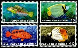 Papua New Guinea 1976 - Scott 442/45 (o) Fish - Papúa Nueva Guinea