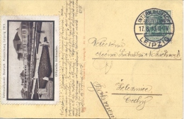 Germany 1913 Picture Postcard From Leipzig With Special Cancel Internationale Baufach Ausstellung And Cinderella - Fabbriche E Imprese