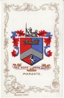 Margate Kent England Heraldic Crest Coat Of Arms C1900s Postcard - Margate