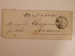 MARQUE POSTALE DE PARIS A CASSANO DU 25 MAI 1852 - 1849-1876: Classic Period